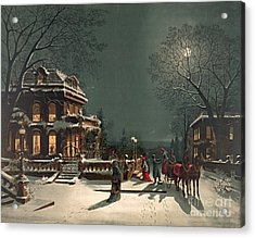 Christmas Eve 1880 Acrylic Print by Padre Art