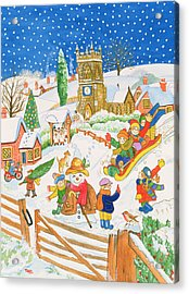 Christmas Eve In The Village Acrylic Print by Tony Todd