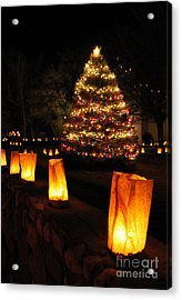 Christmas Eve In Tularosa New Mexico Acrylic Print