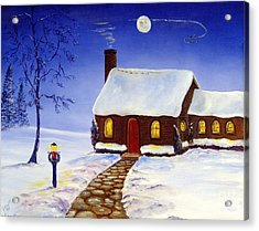 Acrylic Print featuring the painting Christmas Eve by Lee Piper