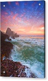 Christmas Eve Sunset Acrylic Print by Darren  White