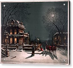 Christmas Eve Acrylic Print by Unknown