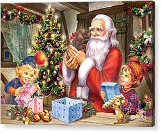 Christmas Eve Acrylic Print by Zorina Baldescu