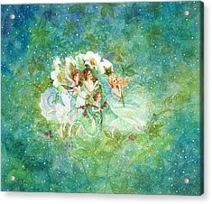 Christmas Fairies Acrylic Print