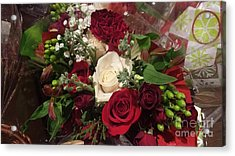 Christmas Floral Bouquet Acrylic Print by Charlotte Gray