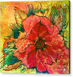 Acrylic Print featuring the painting Christmas Flower by Nancy Cupp