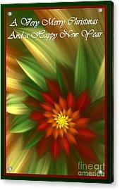 Christmas Flower Acrylic Print by Svetlana Nikolova