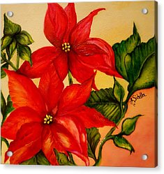 Christmas Flowers Acrylic Print