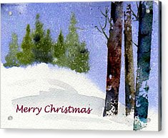 Acrylic Print featuring the painting Christmas Forest 02 by Anne Duke