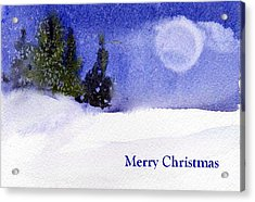 Acrylic Print featuring the painting Christmas Forest  03 by Anne Duke