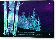 Acrylic Print featuring the painting Christmas Forest by Anne Duke