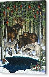 Christmas Gathering Acrylic Print