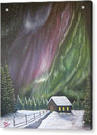 Acrylic Print featuring the painting Christmas Glory  by Dan Wagner