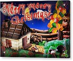 Christmas Greeting Card Iv Acrylic Print by Alessandro Della Pietra