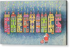 Christmas Greetings  Acrylic Print by Stanley Cooke