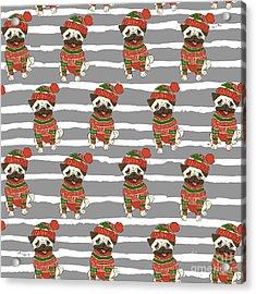 Christmas Holidays Seamless Vector Acrylic Print by Nikolaeva