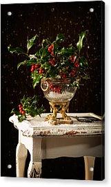 Christmas Holly Acrylic Print by Amanda Elwell