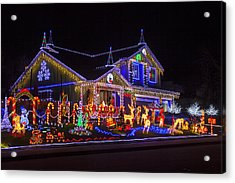 Christmas House Acrylic Print by Garry Gay