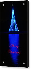 Christmas In Blue Acrylic Print