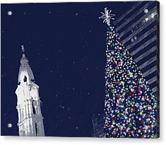 Christmas In Center City Acrylic Print by Photographic Arts And Design Studio