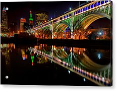 Christmas In Cleveland Acrylic Print