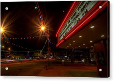Christmas In Columbiana Ohio Acrylic Print