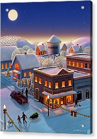 Christmas In Harmony Acrylic Print by Robin Moline