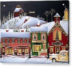Christmas In Holly Ridge Acrylic Print by Catherine Holman