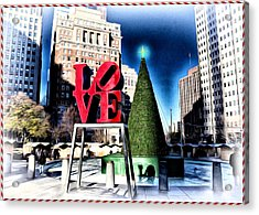 Christmas In Philadelphia Acrylic Print by Bill Cannon