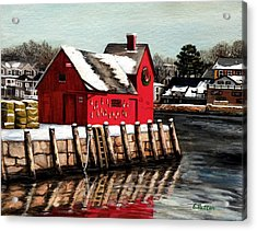 Christmas In Rockport Acrylic Print