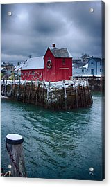 Christmas In Rockport Massachusetts Acrylic Print by Jeff Folger