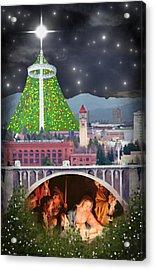 Christmas In Spokane Acrylic Print