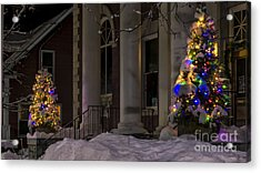 Christmas In Stowe Vermont. Acrylic Print
