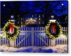 Christmas In The Country Acrylic Print by James Kirkikis
