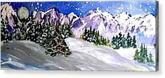 Christmas In The Mountains Acrylic Print