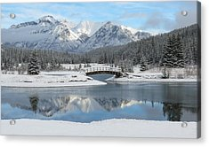 Christmas In The Rockies Acrylic Print by Ramona Johnston