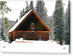 Christmas In The Rockies Acrylic Print by Steven Reed