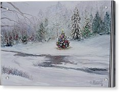 Christmas In The Woods Acrylic Print by Catherine Hamill