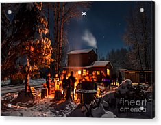 Christmas In The Woods Acrylic Print