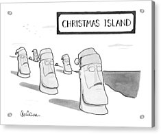 Christmas Island Acrylic Print by Leo Cullum