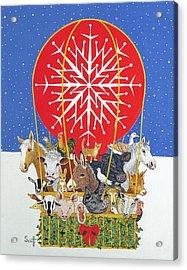 Christmas Journey Oil On Canvas Acrylic Print