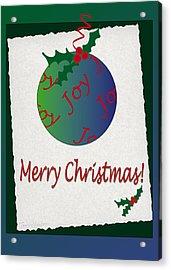 Christmas Joy Acrylic Print by Terri Harper