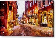 Christmas Lane Acrylic Print by Elizabeth Coats