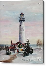 Acrylic Print featuring the painting Christmas Light by Brenda Thour