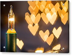 Acrylic Print featuring the photograph Christmas Lights. by Gary Gillette