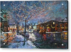 Christmas Lights In Elmwood Ave  Acrylic Print