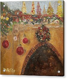 Christmas Mantle At The Mission Inn Acrylic Print