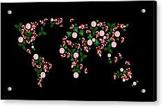 Christmas Map Acrylic Print