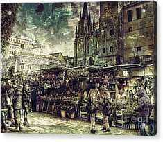Christmas Market - A Dickensian Look Acrylic Print
