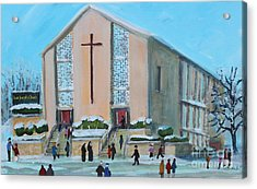 Christmas Mass At Saint Joseph's Church Acrylic Print